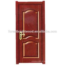 Projeto interior tradicional da porta da melamina da forma para a porta do quarto
