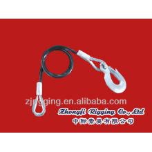 Accesorios de cuerda de alambre con gancho de ojo