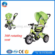 new style seat can rotate 360 degree tricycle in three wheel air wheel child tricycle 3 in 1 tricycle