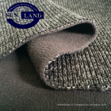 18 hiver en tissu brossé 100 ouatine polaire liée en tissu mélangé de polyester
