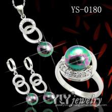 925 Sterling Silber Schmuck Set mit Farbe Pearl (YS-0180)