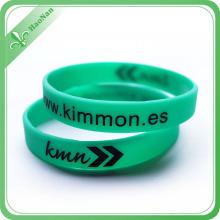 Bracelet fait sur commande de silicone de cadeau promotionnel d'impression de logo fait sur commande