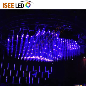 Tube vertical suspendu de DMX RGB 3D d'Iseeled Club