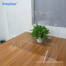 6mm protective glass plexiglass acrylic counter desk/isolation screen