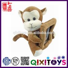 Custom made personalized plush monkey photo frame
