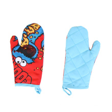 Cute monster for child Dinosaur printing Oven Mitt Set
