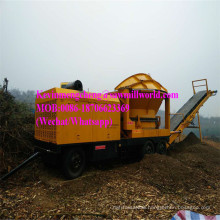 Wood Chipper Machine Diesel Stump Crusher Mobile Branch Shredder