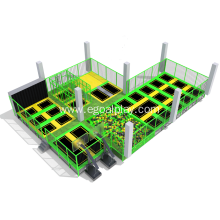 Indoor Trampoline Park Wih Foam Pit Play