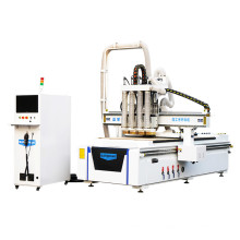 Wood CNC Router Furniture Machine with 4 Spindles for Furniture Cabinet Cut and Carve