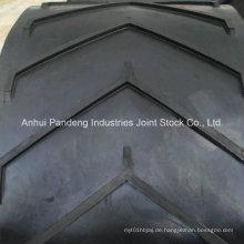 Cema / DIN / ASTM / Sha-Standard Anti-Beleg Chevron-Muster-Förderband / Muster-Förderband