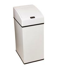Dustbin De Sensor Aotomático Branco De Aço Inoxidável (YW001)