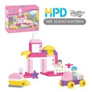 45PCS Pink Building Blocks Bricks Assembling Toys