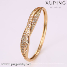 50899 Xuping africano esterlina gents banhado a ouro barato bengala pulseiras de casamento