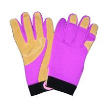 Schwein Split Palm Driver Handschuh, CE Leder Arbeitshandschuh