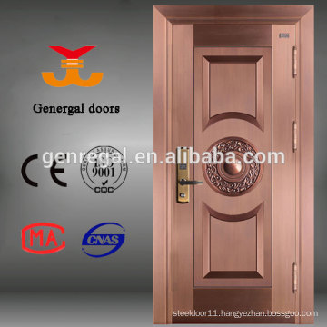 ISO9001 exterior main door luxury metal doors for villa
