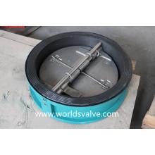 Válvula de retenção de bolacha de forro de borracha (WDS)