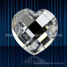 Marqueur en forme de coeur Couper les perles en zircone cubique Perles en vrac
