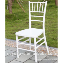 WHITE Metallrohr eingefügt Harz chiavari tiffany Stuhl