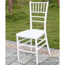 WHITE RESIN CHIAVARI CHAIR WITH STEEL CORE