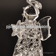 ángel de cristal puro, ángel de dibujo de cristal para regalos