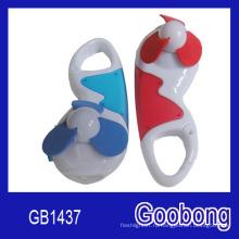 Рекламный подарок Портативный мини пластиковые светодиодные Carabiner Fan (GB1437)