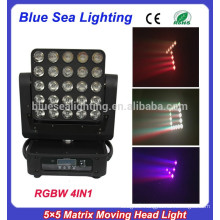 2015 new 25pcs rgbw 4in1 5x5 led matrix moving head light