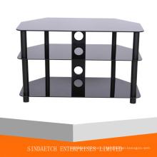 Стеклянный боковой стол, стеклянный угловой стол, стеклянный журнальный столик, стеклянный торцевой стол