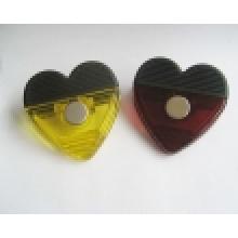 Clip em forma de coração de plástico magnético