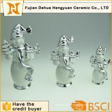 Emballage en céramique en bonhomme de neige pour décoration de maison