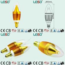 Patente 5W CREE Chip Scob E14 LED bombilla de la vela (LS-B305-GB)