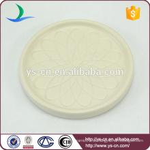 Elegante matte weiße Teebeutel-Untertasse mit Blumenrelief