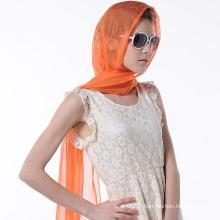 Mode Design Femme Foulard couleur pure Accessoire soie naturelle