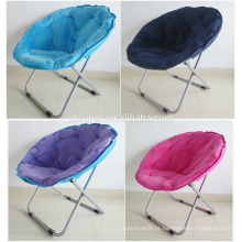 Cadeira de lua dobrável de lã de algodão de metal, cadeira de lazer