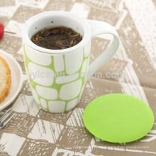 taza de cerámica tapa de silicona