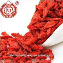 Fruit de baie de Goji rouge séché à l'air