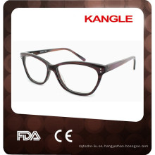 2017 nuevos marcos ópticos del acetato de la alta calidad del diseño propio, lentes