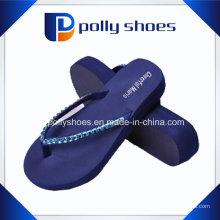 Nouveau bleu marine tong flip lanière douce sangle med talon