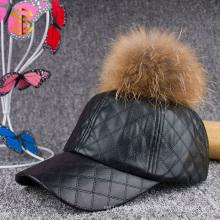 Fabrik Direktverkauf Mode Custom Plain Snapback Leder Cap