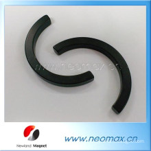 Customized arc Neodymium magnets with Black Epoxy coating for hot sale