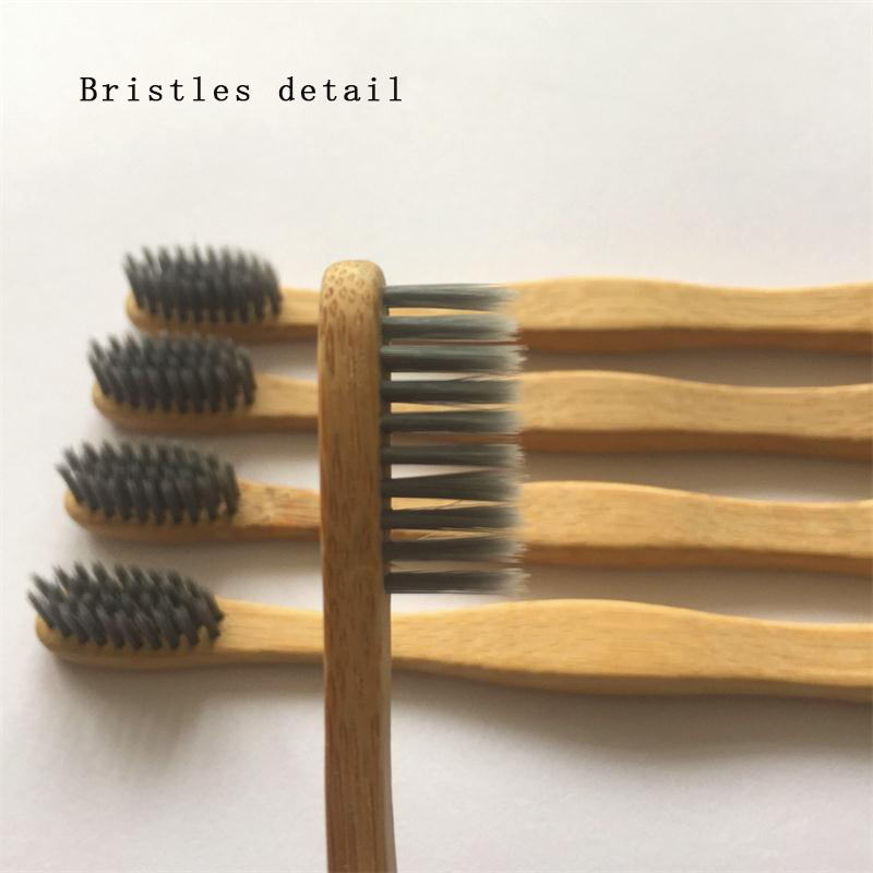 Bamboo Charcoal Toothbrush Bristles Detail