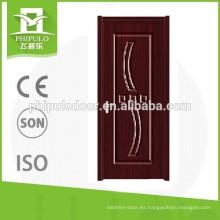 Bonita puerta de PVC con accesorios hecha en Zhejiang.