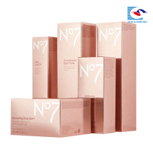 Sencai 2018 venta caliente personalizado emboosing cuidado de la piel caja de cosméticos