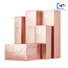 caixa emboosing feita sob encomenda do cosmético dos cuidados com a pele do emboosing da venda quente do sencai 2018