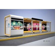 Bushaltestelle für Werbung