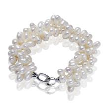 925 Sterling Silber Natürliches Perlenarmband zum Verkauf