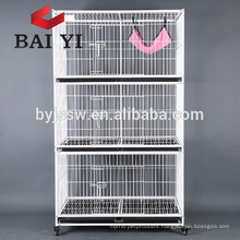 Foldable factory design pet cat cage with hammock
