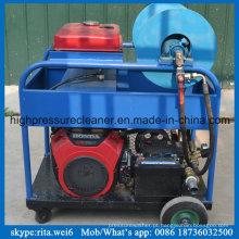 Máquina de alta pressão da limpeza do dinamitador da água da arruela da tubulação de dreno da gasolina