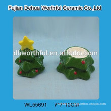 Christmas tree ceramic salt & pepper shaker
