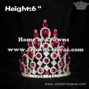 6in Height Wholesale Pink Diamond Pageant Crowns