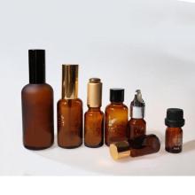 Bouteille en verre ambré à l'huile essentielle (NBG01)